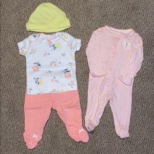 2 newborn outfits